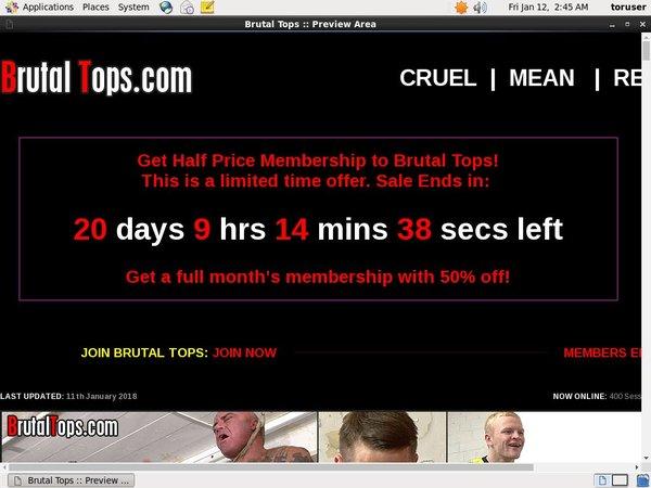 Password Brutaltops.com