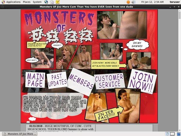 Monstersofjizz.com Login Password