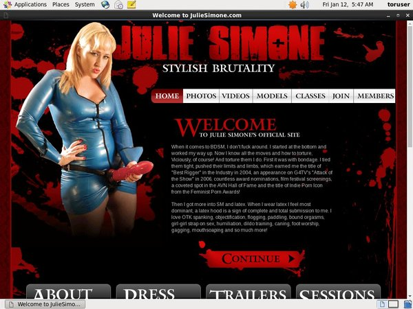 Juliesimone.com Join By Text Message