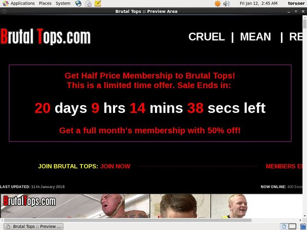 Brutal Tops Members Area