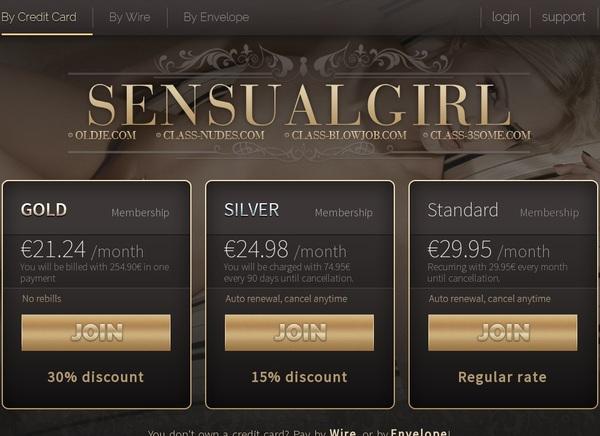 Sensualgirl Billing Page