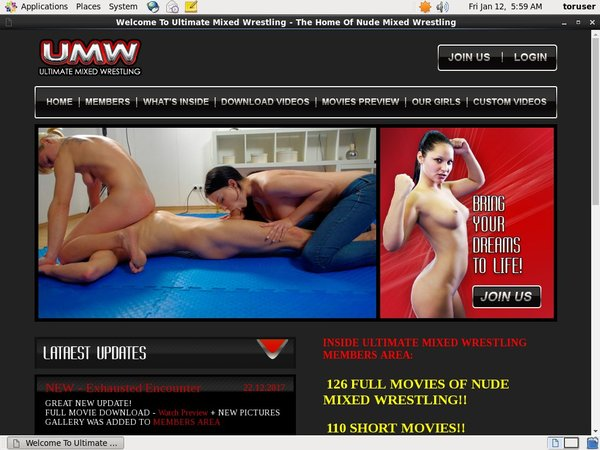 Ultimatemixedwrestling With Master Card